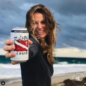 Salt Life Lager woman on beach